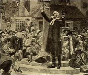John Wesley Open Air Preaching