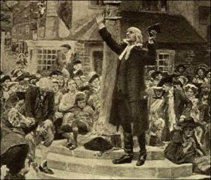 John Wesley Open Air Preaching