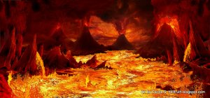 It may that volcanoes are in Hell, to launch the brimstone into the air, so that the fireballs can fall on the wicked burning in the lake of fire.