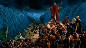 Moses Dividing the Red Sea by the Power of God